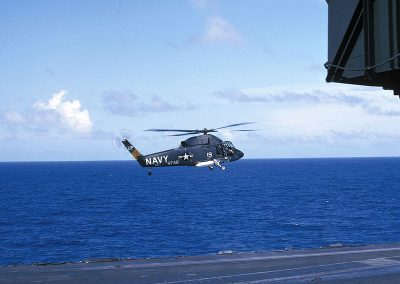 UH-2B from HC-1 landing on CVA-63 1 Mar 1966