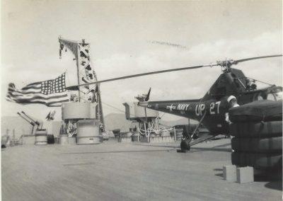 HU-1 Helo USS Iowa 1952